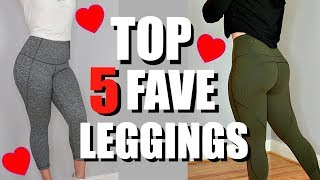 Download Top 5 Favorite Workout Leggings | Try On Review, Nike, Lululemon, Zella, VS Video