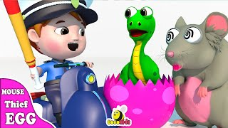 Download Episodes Mouse Thief Dinosaur Eggs Captured by Police | Learn Wild Zoo Animals | Cartoon for Kids Video