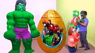 Download Huevo gigante de Sorpresa de Hulk (Vengadores) - Giant Egg Surprise Hulk (Avengers) Video