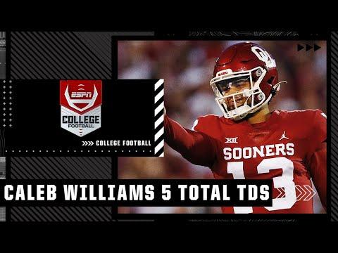 Caleb Williams records 5 total TDs in Oklahoma's win vs. TCU