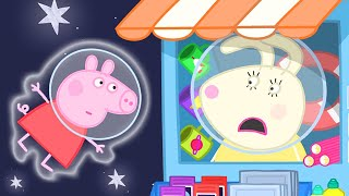 Download Peppa Pig Official Channel | Peppa Pig Visits Miss Rabbit's Shop on the Moon Video
