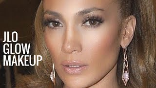 Download JLO GLOW MAKEUP | Jennifer Lopez Makeup Tutorial | Bronzy Glowy Makeup Video