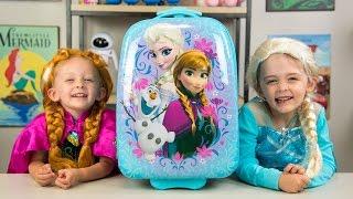 Download HUGE Frozen Backpack Surprise Toys Disney Princess Elsa Anna Fashems My Little Pony Kinder Playtime Video