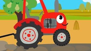 Download Друзья Животные - Веселая обучающая песенка для детей, малышей - Трактор едет в гости к друзьям Video