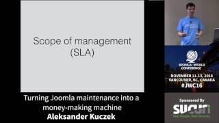 Download JWC 2016 - Turning Joomla Maintenance Into A Money-Making Machine - Aleksander Kuczek Video