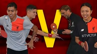 Download Coutinho & Firmino Vs Klopp & Liu | Year of the Rooster Table Tennis Challenge Video