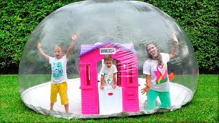 Download Vlad and Nikita build Inflatable Playhouse for children Video