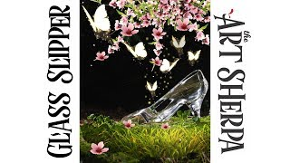 Download How to paint with Acrylic on Canvas Glass Slipper Video