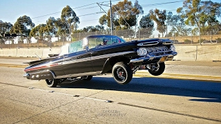 Download Compton CA Lowrider Car Show 1959 Impala The MotherShip Video