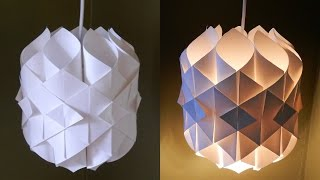 Download DIY paper lamp/lantern (Cathedral light) - how to make a pendant light out of paper - EzyCraft Video