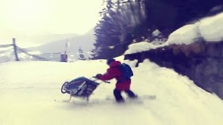 Download Downhill Chariot CX Ski Adventure with the Ski Kit Adapter in Davos Video