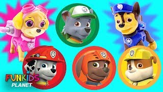 Download Learn Colors with Paw Patrol Magic Play Doh Rainbow Surprise Cans Video
