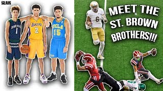 Download The Ball Brothers Of Football!!! Meet The St. Brown Brothers [Highlights Reaction] Video