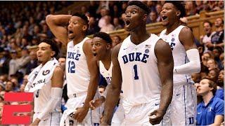 Download Zion Williamson, R.J. Barrett lead Duke to dominant win vs. Princeton | CBB Highlights Video