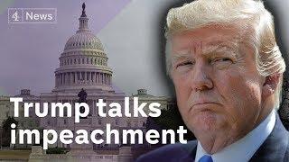 Download Trump: 'Impeach me and market will crash' Video
