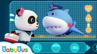 Download *NEW* Super Panda Rescues Police Shark | Super Rescue Team 8 | Baby Shark | Panda Cartoon | BabyBus Video