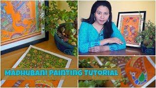 Download Madhubani/Mithila Painting Tutorial | Indian Folk Painting | Painting Tutorial Video