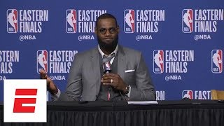 Download LeBron James shows off photographic memory, recalls Celtics' late rally in Game 1 vs. Cavs | ESPN Video