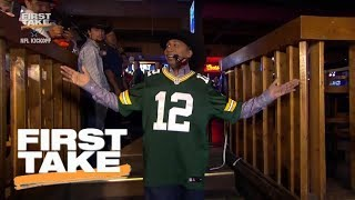 Download Stephen A. Smith dramatically comes into Dallas wearing Aaron Rodgers jersey | First Take | ESPN Video