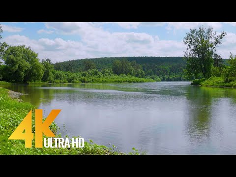 4K Fascinating Serenity of Yuryuzan River, Ural Area, Russia - Short Preview Video