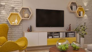 Décoration Ba13 Placo Platre Meuble Tv Avant Spré Yacine Doucha