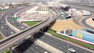 Download Dubai airport, metro and road view Video
