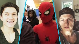 Download Spider-Man (Tom Holland) funny moments - Behind the Scenes 2017😀 Video