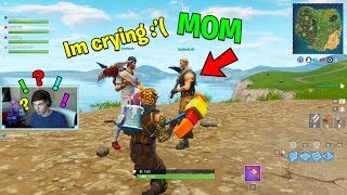 Download He CRIED after HIS MOM STOPPED ME from buying Him Tier 100 Battle Pass.. (Fortnite Battle Royale) Video