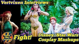 Download Vertvixen talks to Ashlynne Dae (Elsa/ Leia), Elizabeth Rage (Belle/ Leia), & Eberle Cosplay Video
