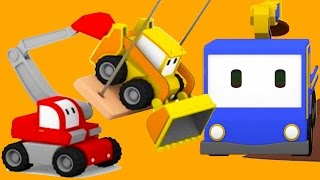 Download The Tree Shed - Learn with Tiny Trucks : bulldozer, crane, excavator | Educational cartoon Video