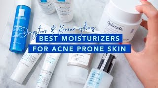 Download Best Drugstrore & Korean Moisturizers For Acne Prone Skin • Budget Skincare & Affordable! Video