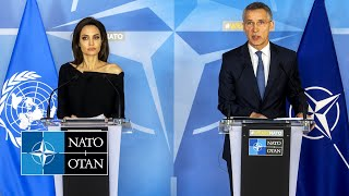 Download NATO Secretary General with UNHCR Special Envoy Angelina Jolie, 31 JAN 2018 Video