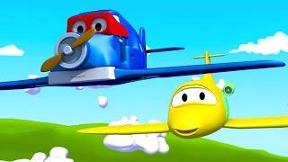 Download Siêu xe Carl và Máy Bay ở thành phố xe   Phim hoạt hình về xe dành cho thiếu nhi Video