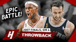 Download Manu Ginobili vs LeBron James LEGENDS Game 4 Duel Highlights 2007 NBA Finals - CLUTCH Manu! Video
