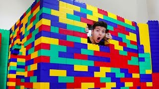 Download I Built A House Using Giant Lego Blocks! Video