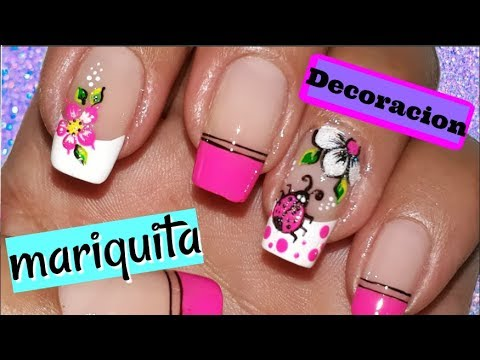 ♥Decoración de uñas Mariquita/Mariquita nail decoration