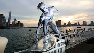 Download EPIC SILVER SURFER HALLOWEEN COSTUME NYC! Video