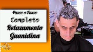 Download Passo a Passo Completo Relaxamento ou alisamento guanidina em cabelo masculino barbeiro iniciante Video