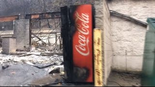 Download RAW: Footage shows burnt out buildings in aftermath of Tennessee wildfire Video