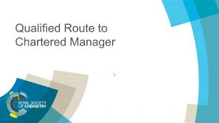 Download ChemCareers 2018 Qualified Route to Chartered Manager Video
