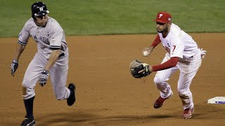 Download 2009 WS Gm 4: Damon singles, then steals two bases Video