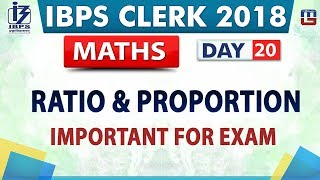 Download Ratio & Proportion | IBPS Clerk 2018 | Maths | Day 20 | 2:00 pm Video