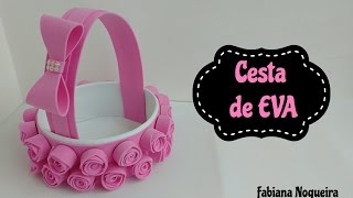 Download Cesta Feita com Papelão e EVA 💖 Video