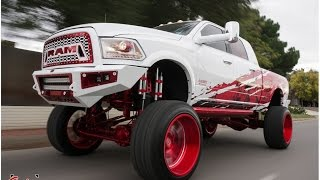 Download Completely Custom SEMA 2016 RAM lifted on BAGS on 26s Specialty Forged wheels. Video