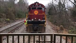 Download ARKANSAS & MISSOURI RAILROAD Train through Winslow Tunnel and Over High Trestle Video