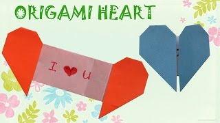 Download Origami Heart with Message - Origami Easy Video