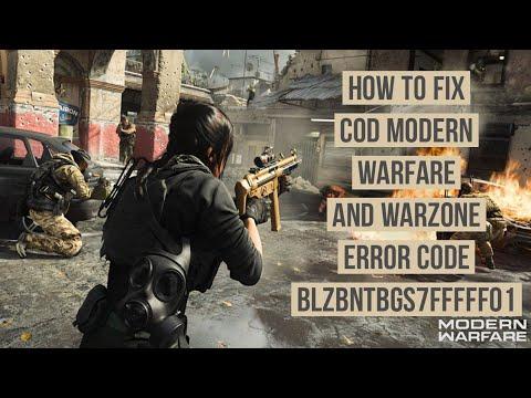 How to fix COD modern Warfare error code BLZBNTBGS7FFFFF01