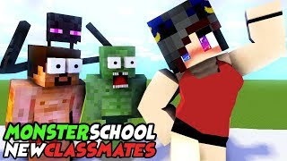 Download MONSTER SCHOOL : NEW CLASSMATES - SWIMMING CHALLENGE Video