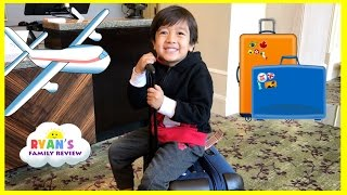 Download Family Fun Trip Airplane to California! Kid Plays Hide N Seek in Hotel Playtime Ryan's Family Review Video