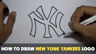 Download Drawing: How to Draw a Cartoon - New York Yankees Logo (Tutorial Step by Step) Video